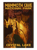 Mammoth Cave National Park, Kentucky, Crystal Lake Posters by  Lantern Press