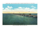 Newport News, Virginia, Northern View across the James River of the James River Bridge Posters by  Lantern Press