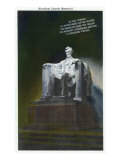 Washington, DC, Interior View of the Lincoln Memorial, Statue of Lincoln Print by  Lantern Press