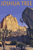 Joshua Tree National Park, California, Boulder Climber Print by  Lantern Press
