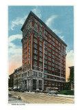 Binghamton, New York, Exterior View of the Press Building Art by  Lantern Press