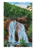 Colorado Springs, Colorado, View of Helen Hunt Falls in North Cheyenne Canyon Posters by  Lantern Press