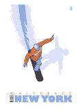 Whiteface, New York, Stylized Snowboarder Prints by  Lantern Press