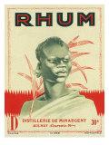 Rhum Distillerie de Minargent Brand Rum Label Art