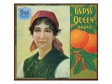 Riverside, California, Gypsy Queen Brand Citrus Label Art by  Lantern Press