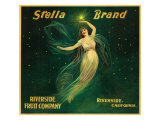 Riverside, California, Stella Brand Citrus Label Print by  Lantern Press