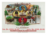 The Finest Brand Cigar Box Label, Coast Guard, Fireman, Postman, and Policeman Art
