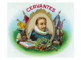 Miguel de Cervantes Brand Cigar Box Label Print by  Lantern Press