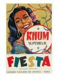 Rhum Superieur Fiesta Brand Rum Label Posters