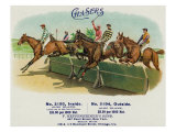 Chasers Brand Cigar Box Label, Horse Racing Posters