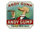Andy Gump Brand Cigar Box Label Prints