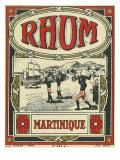 Rhum Martinique Brand Rum Label Poster par  Lantern Press