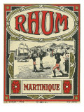 Rhum Martinique Brand Rum Label Poster