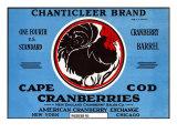Cape Cod, Massachusetts, Chanticleer Brand Cranberry Label Prints