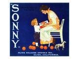 Olive, California, Sonny Brand Citrus Label Prints by  Lantern Press