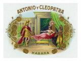 Antonio y Cleopatra Brand Cigar Box Label Poster