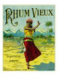 Rhum Vieux Brand Rum Label Prints