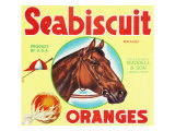 Lindsay, California, Seabiscuit Brand Citrus Label Prints by  Lantern Press