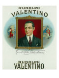 Rudolph Valentino Brand Cigar Outer Box Label Prints