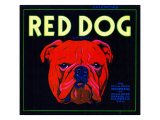 Villa Park, California, Red Dog Brand Citrus Label Posters by  Lantern Press