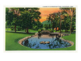 Davenport, Iowa, Vanderveer Park View of the Lagoon Prints by  Lantern Press