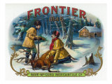 Frontier Brand Cigar Box Label Prints