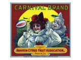 Anaheim, California, Carnival Brand Citrus Label Prints by  Lantern Press