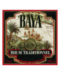 Rhum Traditionnel Baya Brand Rum Label Art
