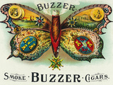Buzzer Brand Cigar Inner Box Label Poster