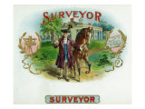 Surveyor Brand Cigar Box Label Posters by  Lantern Press