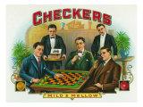 Checkers Brand Cigar Box Label Prints by  Lantern Press