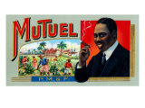 MuTuel Brand Cigar Box Label Posters