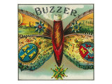 Buzzer Brand Cigar Outer Box Label Prints