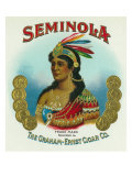 Seminola Brand Cigar Box Label Prints by  Lantern Press
