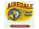 Airedale Brand Cigar Box Label Print