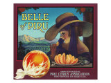 Piru, California, Belle of Piru Brand Citrus Label Print