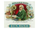 Benjamin Rush Brand Cigar Box Label, Founder of Dickinson College Print