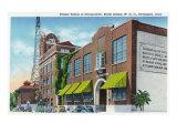 Davenport, IA, Exterior Views of Palmer School of Chiropractic and WOC Radio Station Bldg Print
