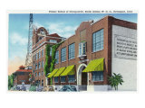 Davenport, IA, Exterior Views of Palmer School of Chiropractic and WOC Radio Station Bldg Print by  Lantern Press