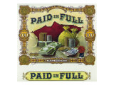 Paid in Full Brand Cigar Inner Box Label Posters