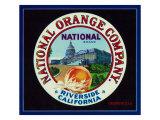 Riverside, California, National Brand Citrus Label Prints by  Lantern Press