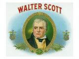 Walter Scott Brand Cigar Box Label Prints by  Lantern Press