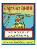 Monopole de Cazanove Captain's Rhum Brand Rum Label Prints