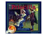 Colton, California, Priscilla Brand Citrus Label Poster by  Lantern Press