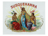 Susquehanna Brand Cigar Box Label Prints by  Lantern Press