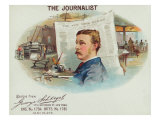 The Journalist Brand Cigar Box Label Prints by  Lantern Press