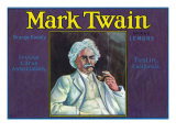 Tustin, California, Mark Twain Brand Citrus Label Prints by  Lantern Press