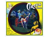Santa Barbara, California, Circus Brand Citrus Label Poster by  Lantern Press