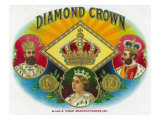 Diamond Crown Brand Cigar Box Label Prints
