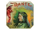 Dante Brand Cigar Outer Box Label Poster